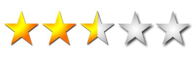 Resultado de imagen para dos estrellas y media de cinco